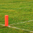 Football goal line orange marker — Stock Photo #6603427
