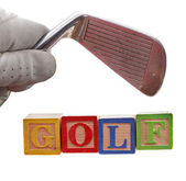 Golf glove club blocks — Foto de Stock
