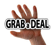 Grab a deal — Stock Photo