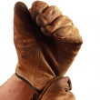 Putting on work gloves — Stock Photo