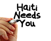 Haiti needs you — Stock Photo