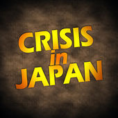Japan crisis words — Stock Photo