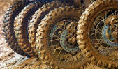Muddy tires — Stock Photo