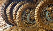 Muddy tires — Stock Photo