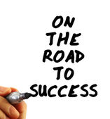 On the road to success — Stock Photo