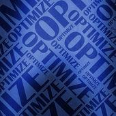 Optimize text illustration blue — Stock Photo