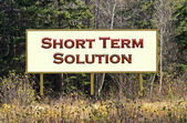 Short term solution sign — Stock Photo