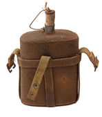 Vintage military canteen — Stock Photo