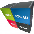 Frech - Schlau - Sexy - Reich — Stock Photo