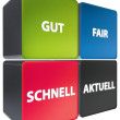 Schnell - Gut - Fair - Aktuell - Stock Photo