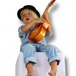 Der Junge mit der Gitarre — Stock Photo