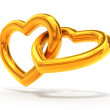 Gold hearts — Foto de Stock