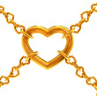Chain of hearts — Stock Photo