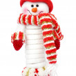 Smiling snow man — Stock Photo #6587577