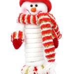 Smiling snow man — Stock Photo