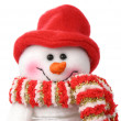 Smiling snow man — Stock Photo