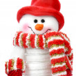 Smiling snow man — Stock Photo #6588206