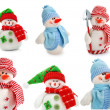 Smiling snowman toy dressed in scarf and cap — Stock Photo #6588536