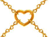 Chain of hearts — Stock Photo