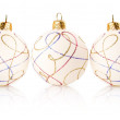 Stock Photo: Christmas decoration balls isolated on white