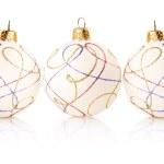 Christmas decoration balls isolated on white — Stock Photo