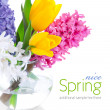 Spring flowers in glass vase — Stock Photo #6593974