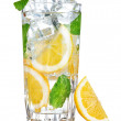 Glass of fresh cool water with lemon — Stock Photo #6595188