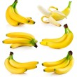 Set fresh banana fruits isolated on white — Stock Photo #6597270
