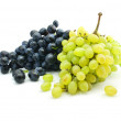 Clusters of blue and green grape isolated — Stock Photo