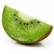 Fresh kiwi cut fruit isolated on white — Stock Photo