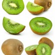 Collection of fresh kiwi fruits isolated — Stock Photo #6602891