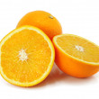 Citrus orange fruit isolated on white - 图库照片