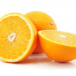 Citrus orange fruit isolated on white — Stock Photo