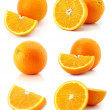 Set of fresh orange fruits isolated on white — Stock Photo
