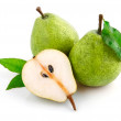 Fresh pear fruits with cut — Stock Photo