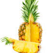 Ripe ananas with cut — Stock Photo