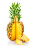 Fresh ananas fruit with cut — Stock Photo