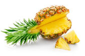 Fresh pineapple with cut — Stock Photo