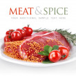 Royalty-Free Stock Photo: Raw meat with spice on plate