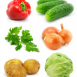 Collection of vegetable fruits isolated on white — Stock Photo #6617986