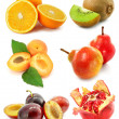 Collection of fruits isolated on white — Stock Photo