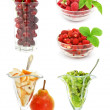 Stock Photo: Collection of fruits isolated on white