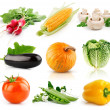 Royalty-Free Stock Photo: Set of vegetable fruits isolated on white