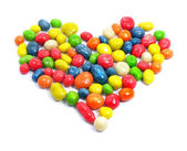 Sweet love heart candies — Stock Photo