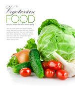 Impostare verdure fresche con foglia verde — Foto Stock