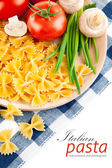 Italian pasta with tomato and champignons — Stock Photo