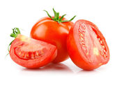 Red tomato vegetable with cut — Foto Stock