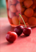 Red juicy cherries — Stock Photo