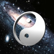 Royalty-Free Stock Photo: Ying yang on space