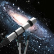 Conceptual astronomy telescope - Stock Photo
